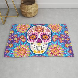 Sugar Skull Art (Inflorescent) Rug