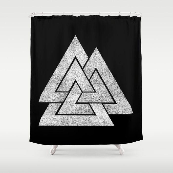 Valknut Shower Curtain