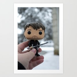 Captain Hook In The Snow Art Print