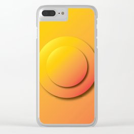 Ripe Orange Button - Gradient Bullet Point Clear iPhone Case