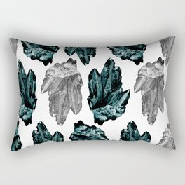 turquoise and grey crystal pattern Rectangular Pillow