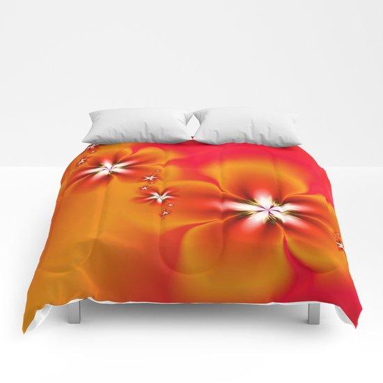 Fleur d'Automne Fractal Comforters