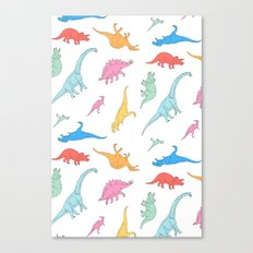 Dino Doodles Canvas Print