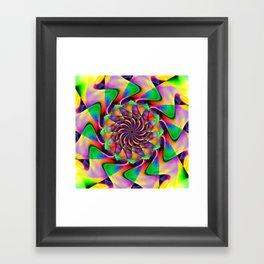 frequency mandala Framed Art Print