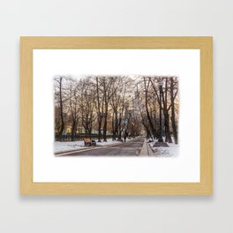 Sadovoye Koltso in Moscow Framed Art Print