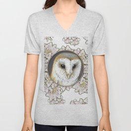 Barn owl small Unisex V-Neck