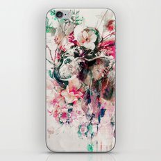 Watercolor Elephant and Flowers iPhone Skin