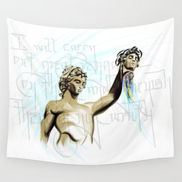 Perseus with the Head of Medusa Wall Tapestry