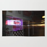pizza Area & Throw Rugs featuring Pizza by livedwards