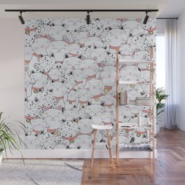 FIND THE PANDA - LUCKY CAT Wall Mural
