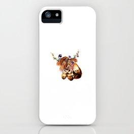 sunset highland cow iPhone Case