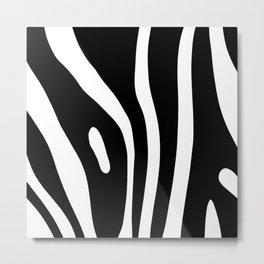 Zebra animal print minimal pattern Metal Print