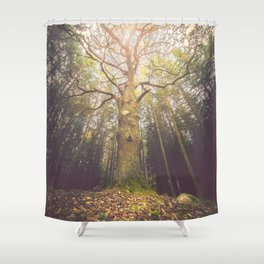 The taller we are Shower Curtain