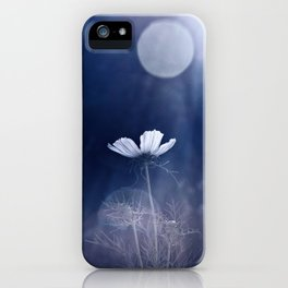 Moon flower iPhone Case