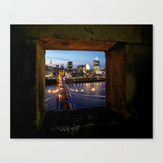 Framed Cincinnati Canvas Print