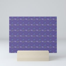 Beautiful love texture Mini Art Print