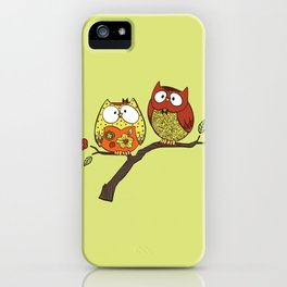 Decorative Owls iPhone Case