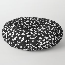 Black and White - painted dots, simple minimal classic dots Floor Pillow