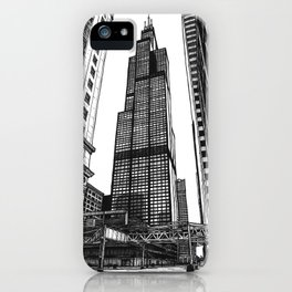 On the Shoulders of Giants - Original Drawing iPhone Case