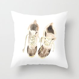 Worn Winter Boots (New England Classic) Throw Pillow