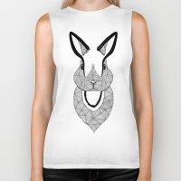 rabbit Biker Tanks featuring Rabbit by Art & Be