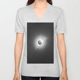 Solar Eclipse -2017 Unisex V-Neck