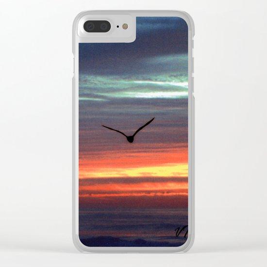 Black Gull by nite Clear iPhone Case