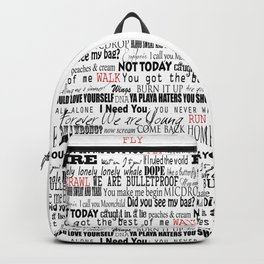 lyrics white Backpack
