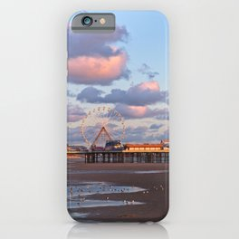 Blackpool Central Pier Sunset iPhone Case