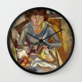 Jules Pascin - Hermine David devant la Table - Modern Expressionism Wall Clock