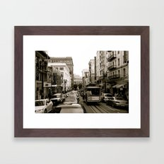 San Francisco Street B&W Framed Art Print