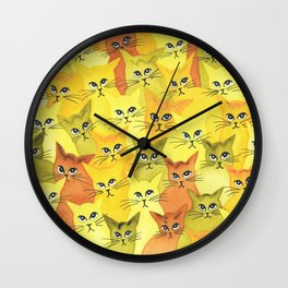Yellowstone Whimsical Cats Wall Clock