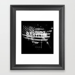 Babylon is falling Framed Art Print