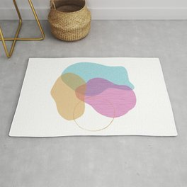 Abstract - colors and textures Rug