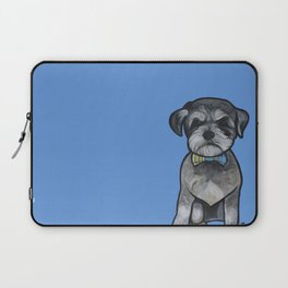 Gus the schnauzer mix Laptop Sleeve