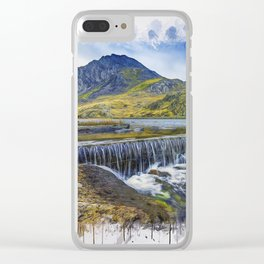 Snowdonia Tryfan Painting Clear iPhone Case
