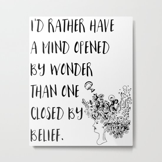 Open Mind Metal Print