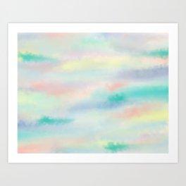 Rainbow Sky x Candy Cloud Art Print