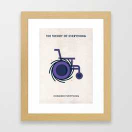The Theory Of Everything Minimalist Poster - Black Hole Framed Art Print