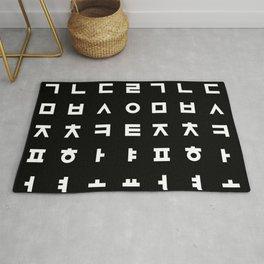 Korean Typography Rug