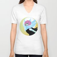 polygon V-neck T-shirts featuring POLYGON FASHION by Marques Cannon