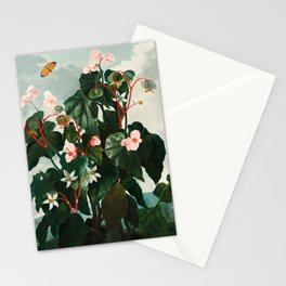 Robert John Thornton - The Oblique–Leaved Begonia Stationery Cards