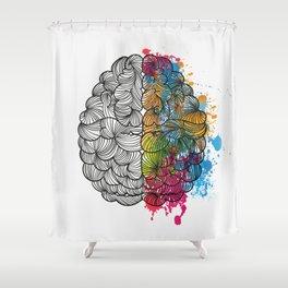 My Brain Shower Curtain