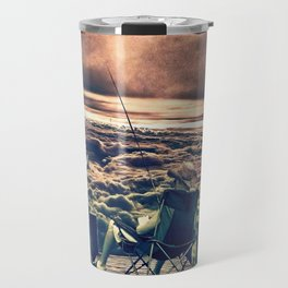 Fishing Above the Clouds Travel Mug