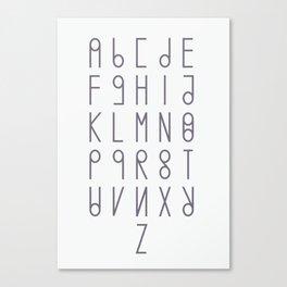 alphabet light version Canvas Print