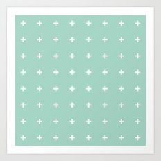 Mint Cross // Mint Plus ///www.pencilmeinstationery.com Art Print