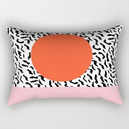 Spazz - throwback memphis 1980s style retro vintage texture illustration decor design style hipster Rectangular Pillow