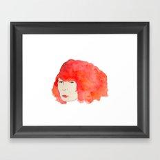 Fire Head Framed Art Print