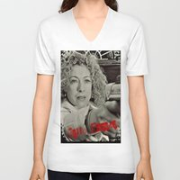 river song V-neck T-shirts featuring River Song; Hello Sweetie. by Art Corner