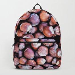 Pattern Of Hazel Or Filbert Nuts Of Brown Color Backpack